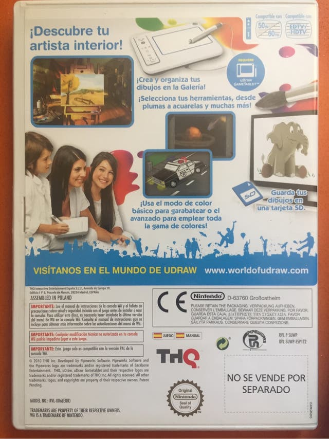 Juego uDraw studio +Wii Udraw Game tablet