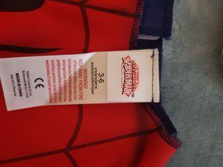 camiseta disfraz de niño spiderman