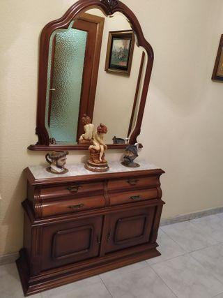 Recibidor / mueble de entrada taquillón y espejo