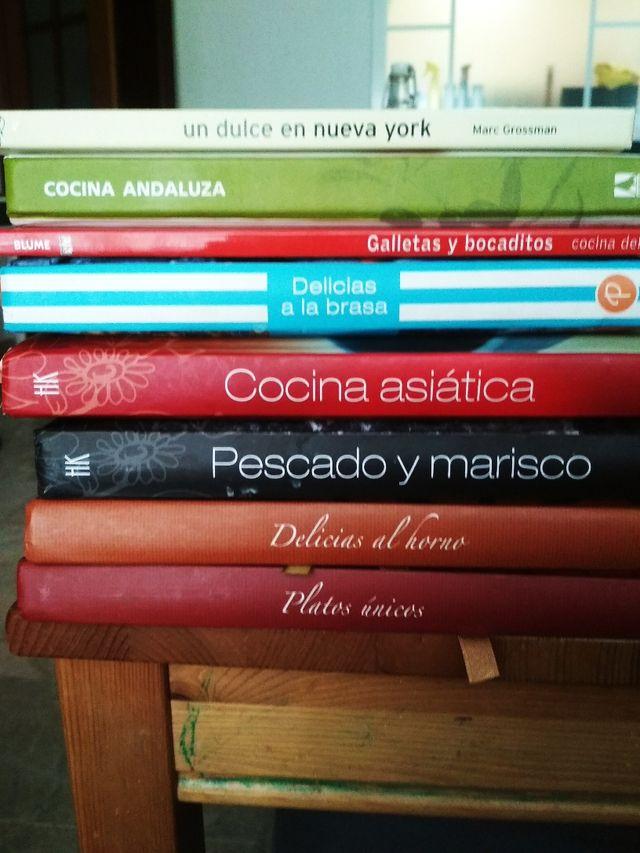 29 libros, de todo tipo, 8 de ellos de cocina