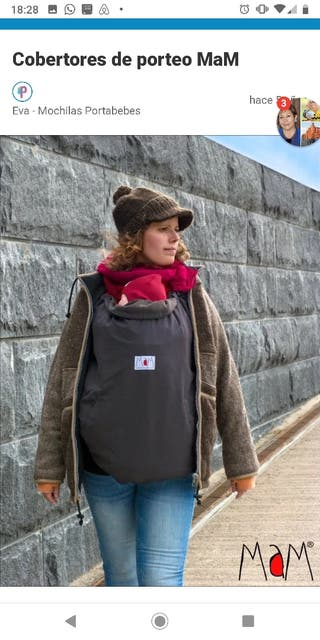 Covertor para mochila portabebe Mam