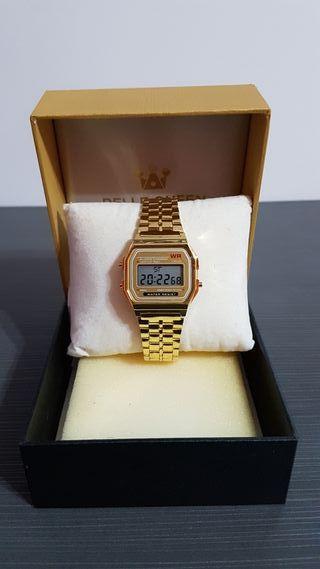Reloj Digital Dorado