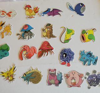Lote pegatinas/adhesivos Pokémon