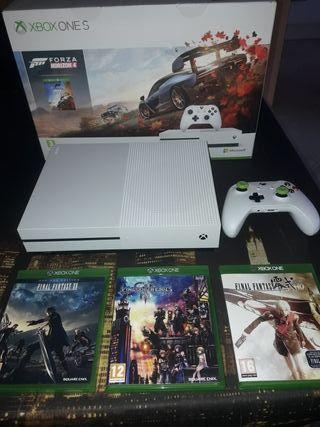 Xbox one S 1TB + mando + juegos