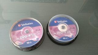 16 DVD+r dl verbatim doble capa