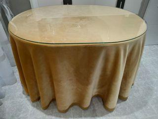 Mesa de salón ovalada 120x90 cm.