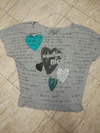 camiseta desigual T-L