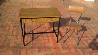 mesa formica hierro silla antigua vintage