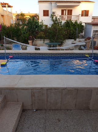 red de vóley piscina