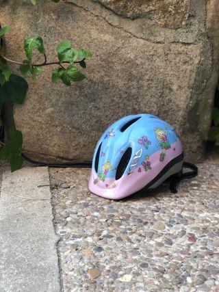Casco niña bici
