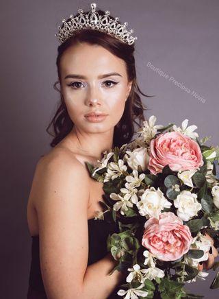 Preciosa Tiara de Novia ,diadema de novia ,Nueva