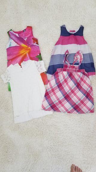 Lote vestido de verano niña talla 2-3