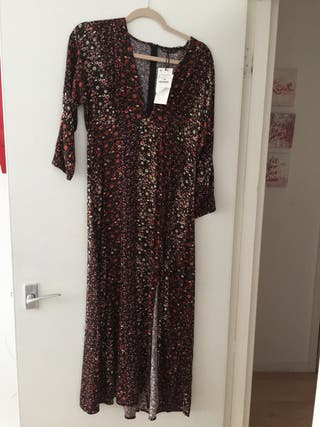New long flower dress L