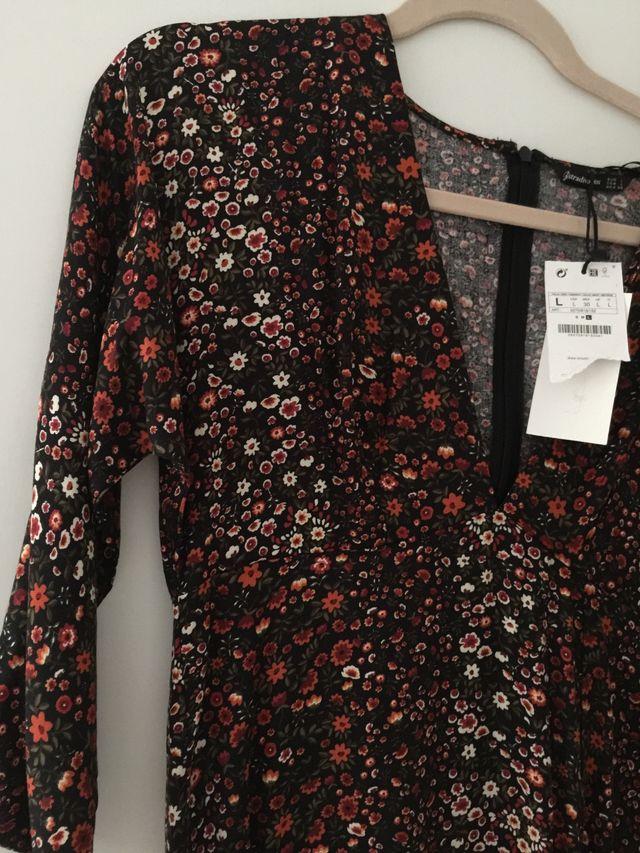 New long flower dress L