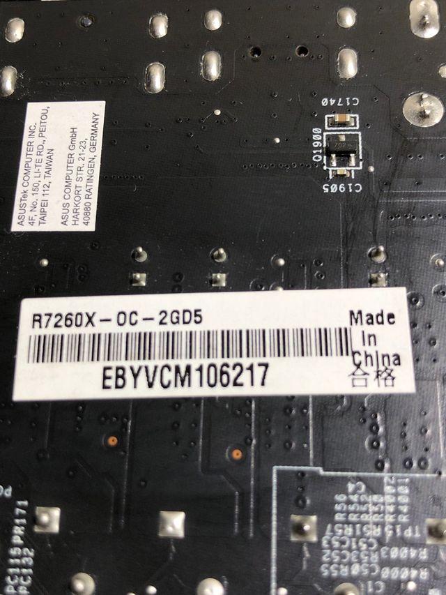 Tarjeta gráfica Radeon R7 260X 2Gb GDDR5 OC edic de segunda mano por