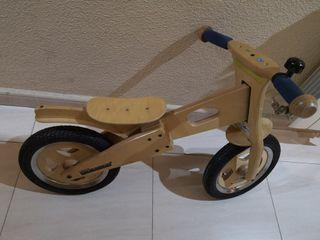 bici niño madera