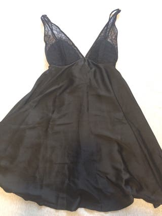 Camisón negro de raso Women'Secret