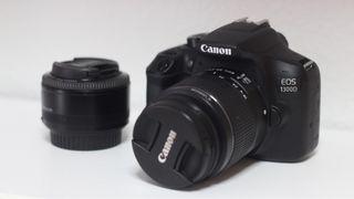 Canon 1300D kit con objetivo EF-S