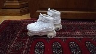 patines mustang con luces en las ruedas