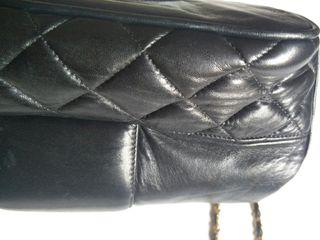 Bolso piel vintage negro