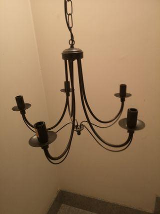 lámpara rústica de techo