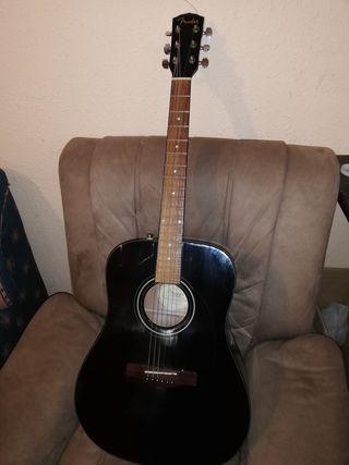 guitarra acústica fender negra