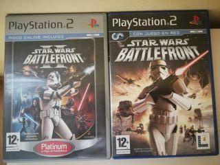 PS2. Juegos Star Wars. Battlefront 1 y 2