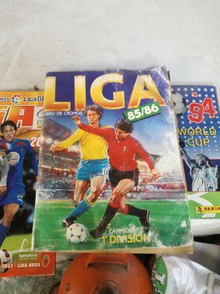 cromos album fútbol año 85/86