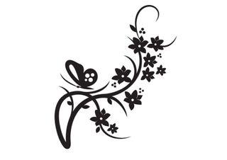Pegatinas vinilo decorativo mariposa flores