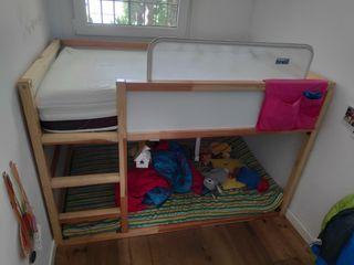 Cama bebé/niño ikea Kura + colchón + barrera