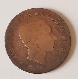 Moneda Alfonso XII. 10 centimos 1879.