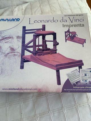 Maqueta imprenta Leonardo da Vinci