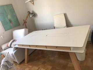 Mesa blanca 200 x 100 cm PERFECTO ESTADO
