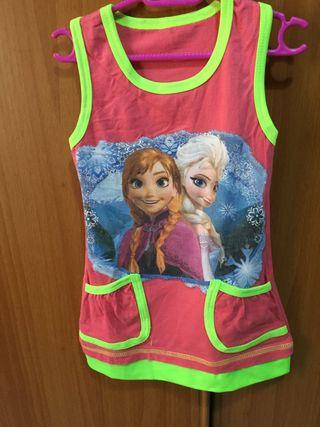 Vestido FROZZEN talla 3-4 años