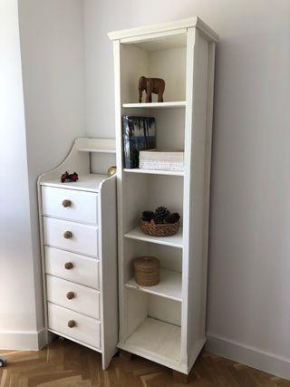 Estantería blanca de IKEA