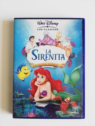 DVD película la sirenita