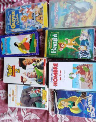 8 películas infantiles para vídeo vhs ( pack 6)