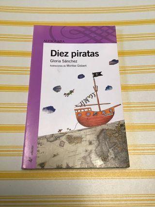"Libro lectura ""Diez piratas"""