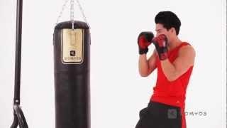 Saco boxeo profesional 1.50m + Soporte + Accesorio