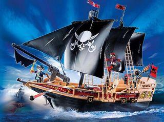 Barco corsario Playmobil. Pirata