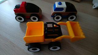 coches de juguete piezas intercambiables de madera