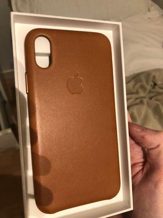 Funda iphone x cuero original