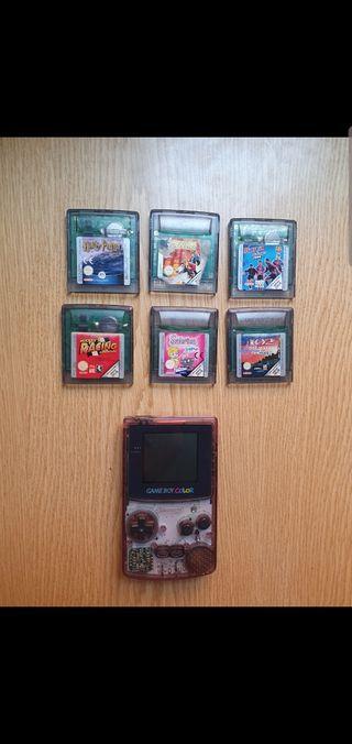 game boy color y juegos
