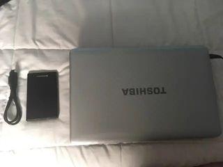 Toshiba L750D 120 SSD 6 RAM + REGALO 500GB externo