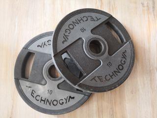Pesas Technogym 10kg.