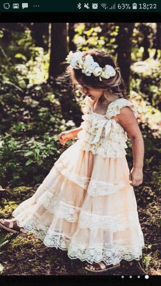 vestido de celebración niña