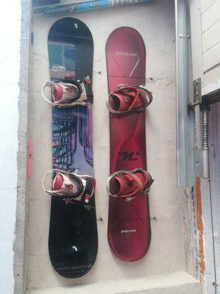 tablas de snow con fijaciones