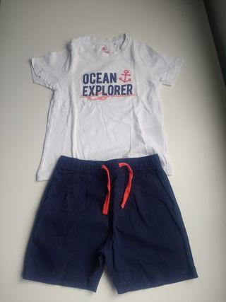 Conjunto pantalón camiseta talla 2-4 años