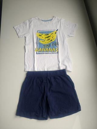 Conjunto pantalón corto camiseta 2-4 años