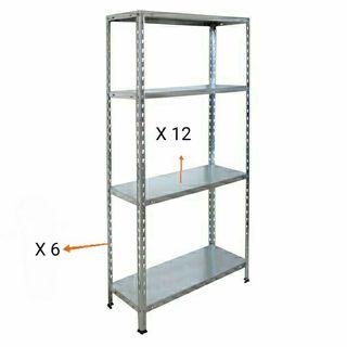 estantería metálica de 12 estantes
